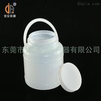 3L塑料桶 3kg塑料包装食品桶 白色带提手圆罐 厂家直销